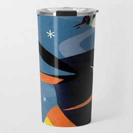 Penguins in the Snow, Holiday Travel Mug