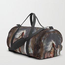 Fantasy horse with beautiful fantasy women Duffle Bag