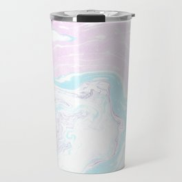 Colorful Waves Marbling Travel Mug