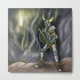 Undead Viking warrior Metal Print