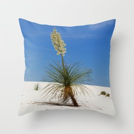 Living In The White Sand Dunes Throw Pillow