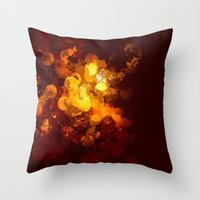 gold dots Throw Pillows featuring Dots by Eponine