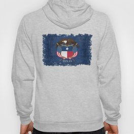 Texas flag and eagle crest - original vintage concept Hoody