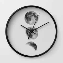 Moon Phase Wall Art Moon Home Decor Moon Phases Nursery Decor Poster Minimalist Print Gothic Boho Wall Clock