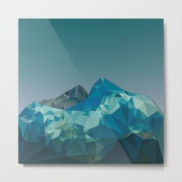 Night Mountains No. 36 Metal Print