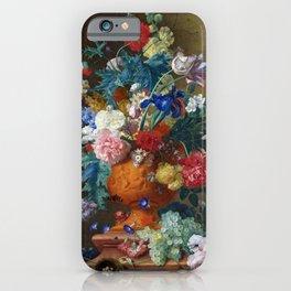 """Jan van Huysum """"Flowers in a Terracotta Vase"""" iPhone Case"""
