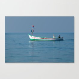 Boat in Palolem Bay Canvas Print
