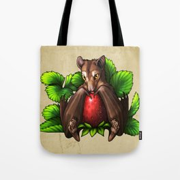 Strawberry Bat Tote Bag