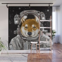 Astronaut Shiba Inu Wall Mural