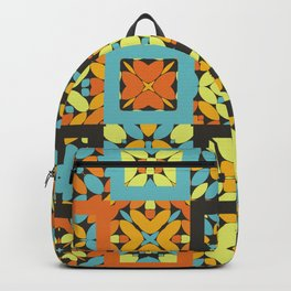 Abstract Floor Tile Pattern Backpack
