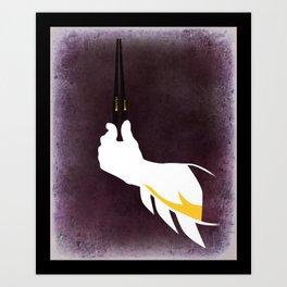 Bat chopsticks Art Print