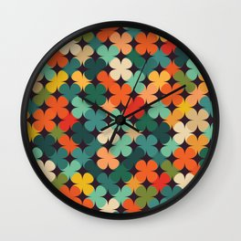 Lucky Clover Wall Clock