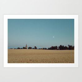 The Moon and the Church Art Print