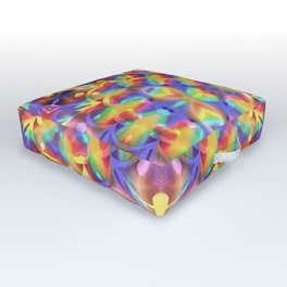 Rainbow Butterfly Geometrica Outdoor Floor Cushion