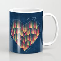 interstellar Mugs featuring Interstellar Heart II by VessDSign