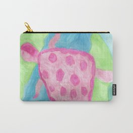 Tropical Pink Turtle Carry-All Pouch