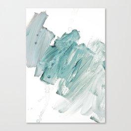 brushstrokes 11 aquamarine Canvas Print