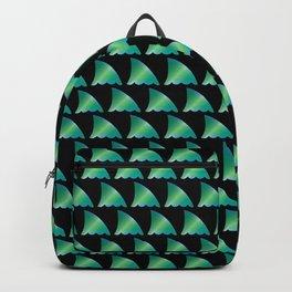 Green shark fin pattern Backpack