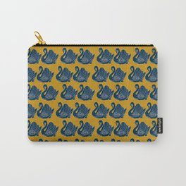 Crown Lynn Swans (Mustard) Carry-All Pouch