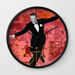 Astaire Collage Portrait 1 Wall Clock