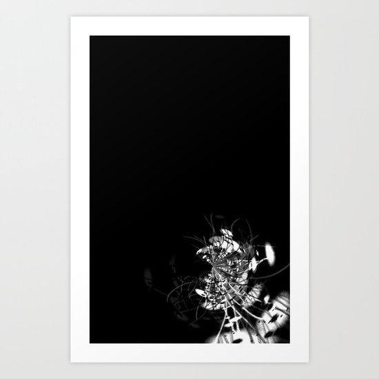 Datadoodle Flowers B/W Art Print