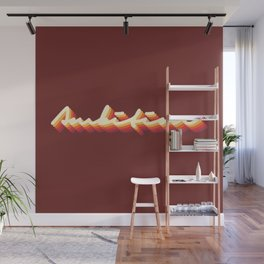Ambition Vintage Retro Typography Wall Mural