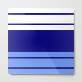 TEAM COLORS 9.... Light blue , navy Metal Print