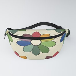 Flower pattern based on James Ward's Chromatic Circle Fanny Pack