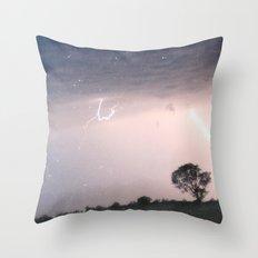 mother nature's fury Throw Pillow