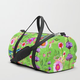 Tropical Dragonfly Garden Duffle Bag