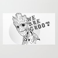 groot Area & Throw Rugs featuring We are groot by Vickn