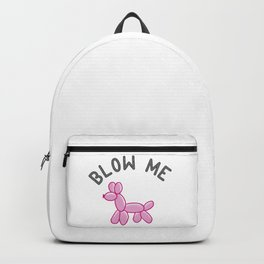 Pink Balloon Dog Backpack