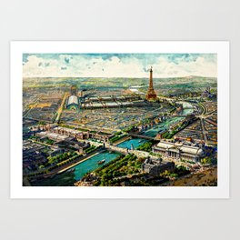Paris 1900 Panorama Art Print