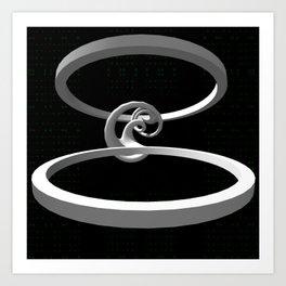 Rings of knowledge. Art Print