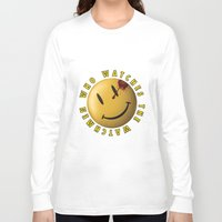 watchmen Long Sleeve T-shirts featuring Who Watches The Watchmen? by Jack Allum