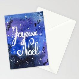 Galaxy Christmas Card, Joyeux Noël, Starry Night Stationery Cards