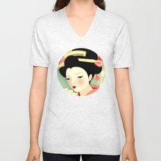 Geisha: Rose Unisex V-Neck