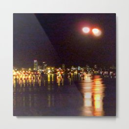 double exposure moon Metal Print