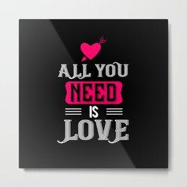 Be My Valentines Day Love - 02 Metal Print