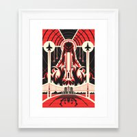 godzilla Framed Art Prints featuring Godzilla by Fabled Creative - Archive