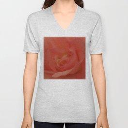 Peach Begonia Unisex V-Neck