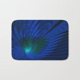 Peacock Feathers Bath Mat