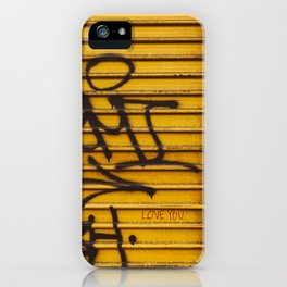 East Village Love iPhone Case