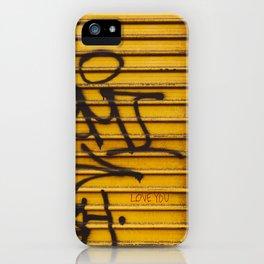 East Village Love iPhone Case