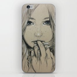 Girl with Freckles iPhone Skin