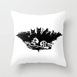 The cats of Ulthar Throw Pillow