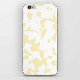 Large Spots - White and Blond Yellow iPhone Skin