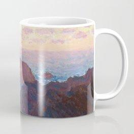 1886-Claude Monet-Rocks at Belle-lle, Port-Domois-65 x 81 Coffee Mug