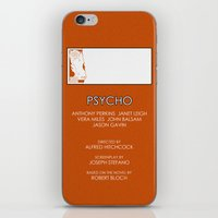 psycho iPhone & iPod Skins featuring Psycho by MacGuffin Designs