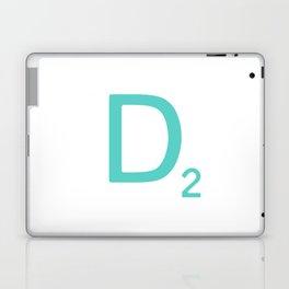 Aqua Scrabble Letter D Laptop & iPad Skin